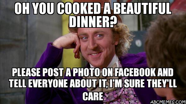 oh you cooked a beautiful dinner oh you cooked a beautiful dinner? please post a photo on facebook